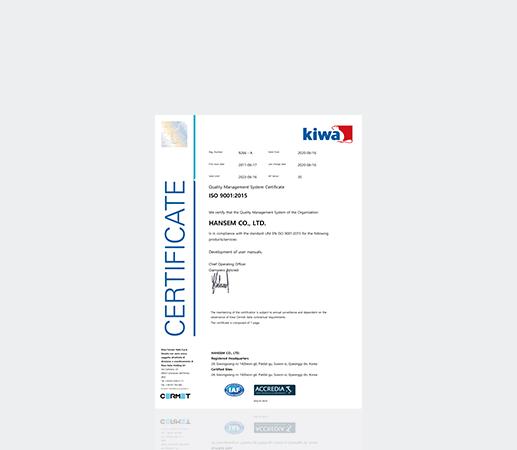 Đạt chứng chỉ ISO 9001